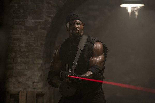 "Say hello to my little friend... Terry Crews in ""The Expendables"""