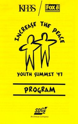 Increase the Peace Youth Summit '97 event program