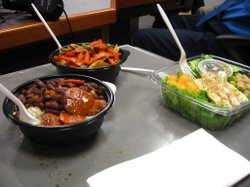 A selection of the food offered by San Diego Unified School District.