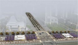 A rendering of phase one of the North Embarcadero Visionary Plan.