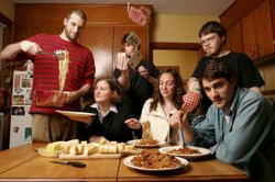 The Canadian indie-rock Hey Rosetta! is eating. But this Saturday, they'll be...