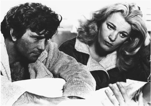"Peter Falk and Gena Rowlands played a married couple in ""A Woman Under the Influence"""
