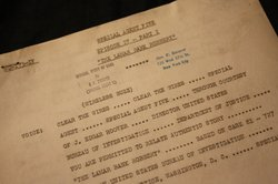 This radio script claims to dramatize an actual FBI case endorsed by former F...