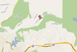The approximate location of the El Monte Fire in San Diego's East County on A...