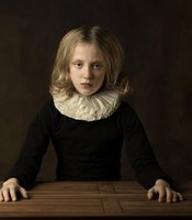 """Girl with White Collar at table"" By Marie Cecile Thijs (Rotterdam, Netherlands)"