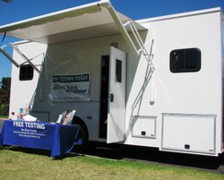 San Diego County's mobile HIV testing unit offers free testing and counseling...