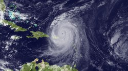 In this handout satellite image provided by the National Oceanic and Atmosphe...