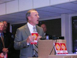 San Diego County Chief Deputy District Attorney Daniel Lamborn lost his home in the 2007 wildfires. He was at the Burn Institute Sept. 2 to unveil the new Red Guide to Recovery.