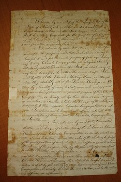 This parchment records the Incorporation of the Universal Friends Church, a c...