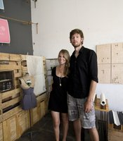 Stacy and Sean Kelley, founders of Set & Drift and the team behind The Bakery space in Barrio Logan. The curated a show of art, jewelry and design called Current.