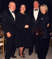 Donald and Darlene Shiley (left) with David Copley and Judith Harris.  Donald and Darlene Shiley and the Copley Family are charter members of the KPBS Hall of Fame.  Both families were honored with a Visionary Award.