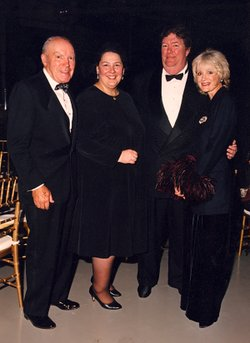 Donald and Darlene Shiley (left) with David Copley and Judith Harris.  Donald...
