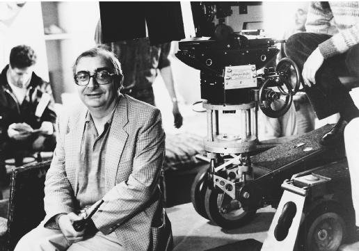 Claude Chabrol on the set.