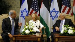 U.S. Secretary of State Hillary Clinton met with Israeli Prime Minister Benja...