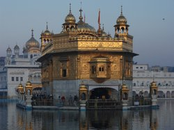 The Golden Temple, in the city of Amritsar, Punjab. The Harmandir Sahib, informally referred to as The Golden Temple, is the holiest shrine in Sikhism.