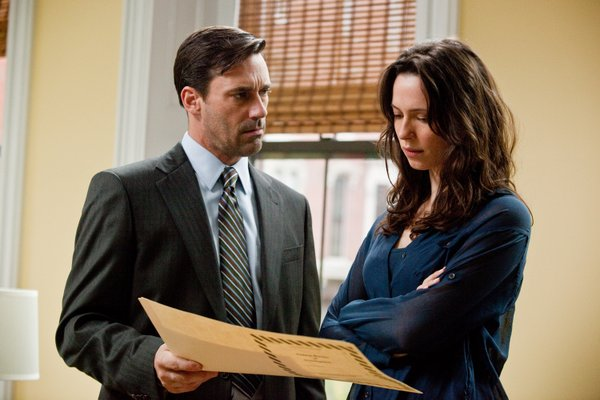 "John Hamm and Rebecca Hall in ""The Town."""