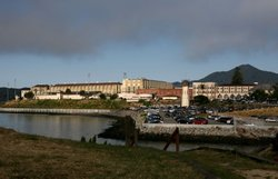 A view of the California State Prison at San Quentin, where many death row in...