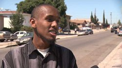 Somali Yusuf Ali of San Diego talks about the political situation in Somalia today, in University Heights in September 2010.