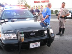 Law enforcement officials in Vista were out in full force on Sept. 25, 2010 a...