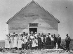 A Methodist Episcopal Church schoolhouse in the 1870s.