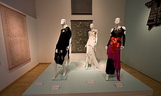 Rhodes was once nicknamed the Princess of Punk, for a series of dresses she designed starting in 1977.  These four dresses represent that aesthetic.
