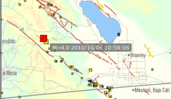 USGS map shows the location and size of an earthquake that struck near Julian...