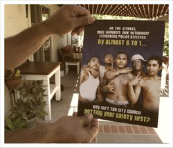 A controversial poster by the Escondido Police Officers' Association alleging...