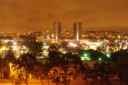 A view of Tijuana, Mexico at night.