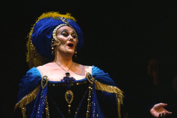 "Opera soprano Joan Sutherland in San Diego Opera's 1983 production of ""Adriana Lecouvreur."""