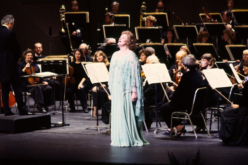 Soprano Joan Sutherland performing in concert at the San Diego Opera.