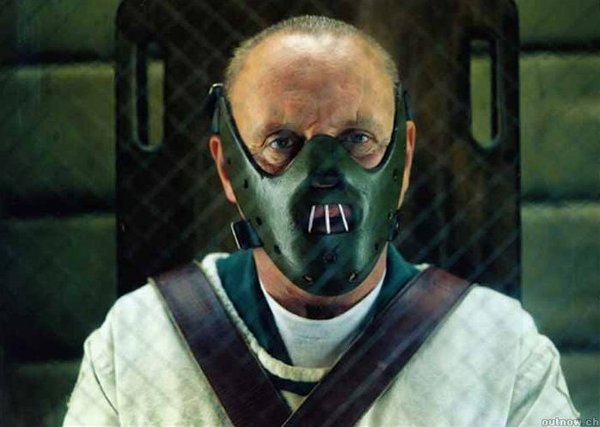 "Anthony Hopkins as Hannibal Lecter in ""Red Dragon."""