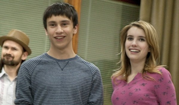 "Keir Gilchrist and Emma Roberts are teens with problems in ""It's Kind of a Funny Story."""