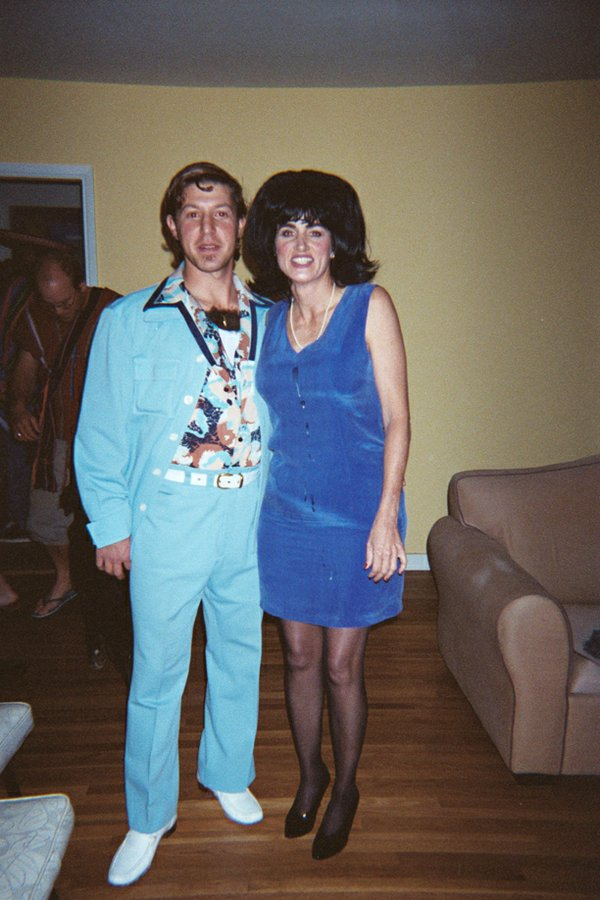 Sam Belfer and Patricia Collins as Guy in Leisure Suit (starring chest hair) and Monica Lewinsky.