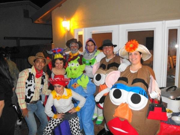 "Yvette Roman sent me this very fun pic of ""Toy Story"" costumes that were all homemade!  In this photo: Tania, Gustavo, Nedra, Bruno, Armando Rome, Nerin, Yvette, and Rudy."