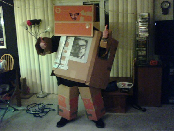 "Another from the industrious Bob Rose who says this is Rick Moranis. He adds...""I didn't say it was a good costume."""