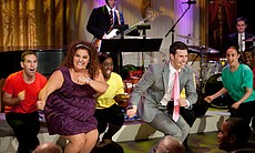 "Students from the Joy of Motion Dance Center and the Duke Ellington School of the Arts perform ""Can't Stop the Beat"" from ""Hairspray"" during ""A Broadway Celebration: In Performance at the White House"" in the East Room of the White House, July 19, 2010."