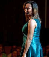 "Tonya Pinkins performs ""Gonna Pass Me A Law"" from ""Caroline, Or Change"" during ""A Broadway Celebration: In Performance at the White House"" in the East Room of the White House, July 19, 2010."
