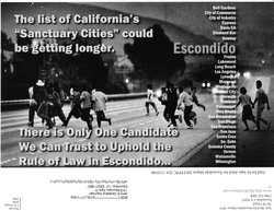 The controversial campaign mailer sent out by Escondido mayoral candidate, Sam Abed.