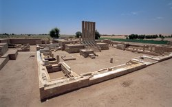 Photo of the ruins of the temple of Bar'an. In Africa, Michael Wood visits th...
