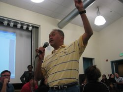 Parents garner support for Proposition J at a recent town hall meeting organi...