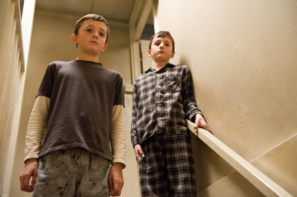 "George McLaren and Frankie McLaren star as twin brothers in ""Hereafter."""