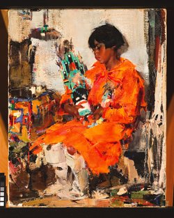 This painting by Russian painter Nicolai Ivanovich Fechin called
