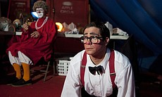 Barry Lubin as Grandma the clown, and Mark Gindick, another clown in the legendary Big Apple Circus.
