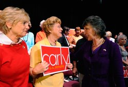 Republican candidate for U.S. Senate and former head of Hewlett-Packard Carly...