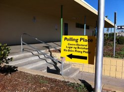 A polling place in San Diego County.