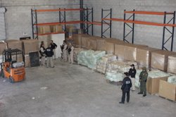 In this photo provided by Immigration and Customs Enforcement, 20 tons of mar...