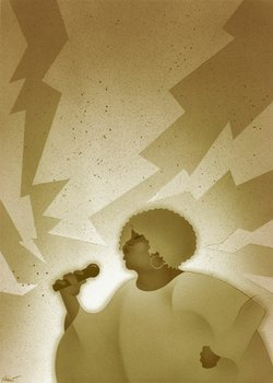 Illustration of Mavis Staples by Stan Shaw
