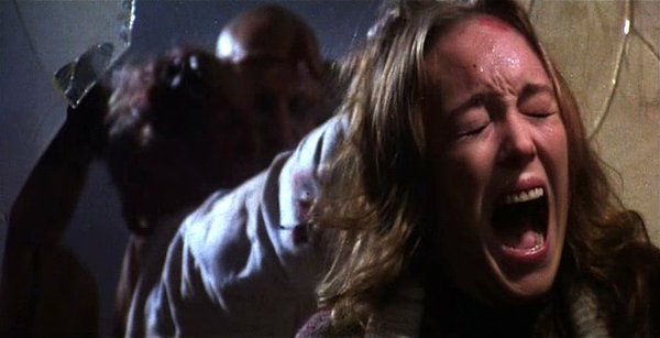 "Catriona McColl is terrorized repeatedly in Lucio Fulci's ""The Beyond."""
