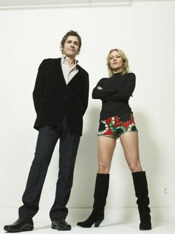 More of the outrageously good-looking duo, Dean and Britta.