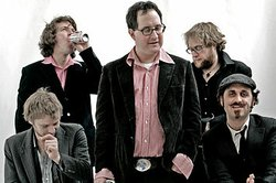 The members of the band The Hold Steady, who play 4th and B this Saturday at 94.9's Anniversary Bash.